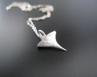 Silver Rose Thorn Necklace Thorn Pendant