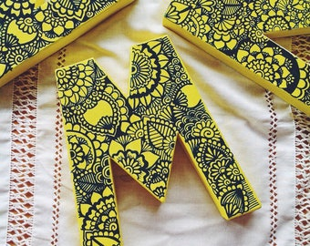 Letras Zentangle Por Encargo de Colores