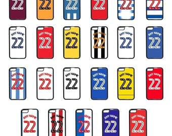 Personalised English Championship Football team iPhone Cases 4 5 5c 5s 6 6+ Cover iPod 4 & 5 Any Name and Number