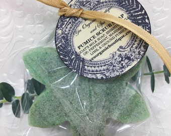 Pumice Scrub Soap - For Soft Feet - Goat Milk Soap, Ground Pumice, Essential oils of Peppermint, Mandarin, Lime