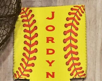 Personalized Softball can holder