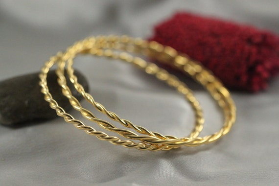 twisted bangles gold lee michaels fine bangle yellow jewelry