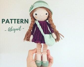 Abigail | Crochet Doll Pattern, Crochet Pattern, Amigurumi doll Pattern, Amigurumi Doll, Amigurumi pattern, PDF