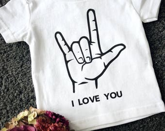 I Love You - ASL Baby/Toddler T-Shirt
