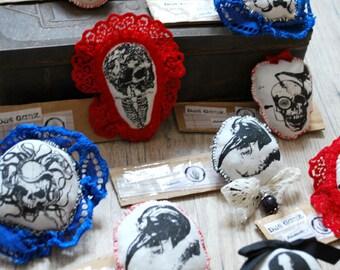Broches - Skull & Skeleton - Recycling Art