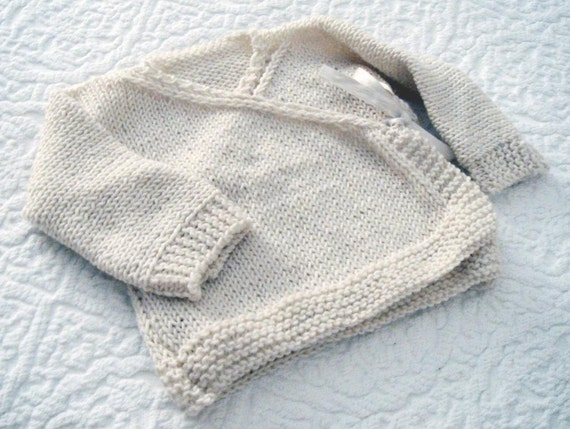 Baby Kimono Jacket Baby Wrap Cardigan Pdf Knitting Pattern 6 9