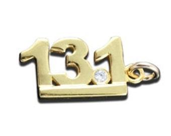Vermiel 13.1 Charm with CZ stone