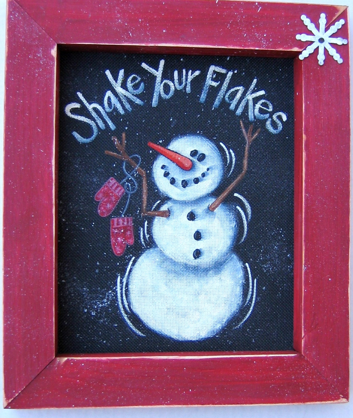Snowman Shake Your Flakes Sign Tole Painting Pattern DIY