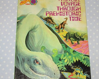 Fantasy Voyage Through Prehistoric Time Golden Book by John Hassell John 1974 1st ed LARGE