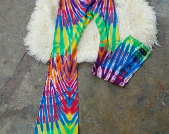 Tie dye yoga leggings medium
