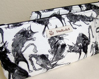 Black Cats - Zip Pouch, Cosmetic Case, Pencil Case, Accessories, Pet Lovers Gifts, PawDuds