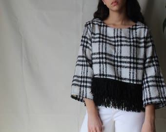 Vintage Quality Sweater Top, Dressed up or Down 80s One of a Kind Sweater, Unique and Comfortable