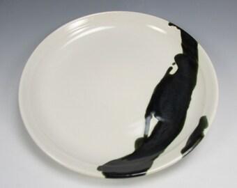 Black and white serving platter