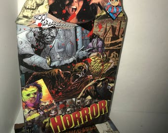 Custom comic Horror Key Holder