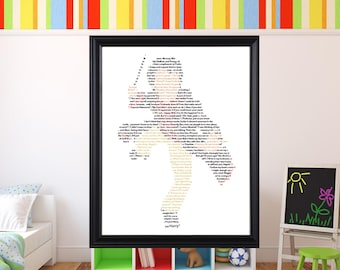 Harry Potter Text Wall Art The Boy Who Lived
