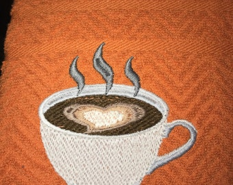 Kitchen Towel - Embroidered Coffee Love
