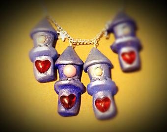 Princess tower pendant necklace