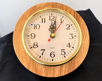 CLOCK, wall mounted, made from Ash (2)
