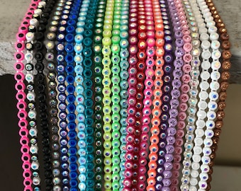 23 yards mix color SS8 AB crystal rhinestone chain banding huge lot