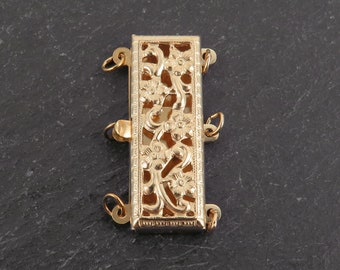 Gold Filled Square Rectangular Clasp 23mm - 3 Row