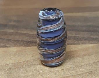 Royal sparkle - lampwork glass focal bead