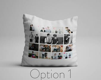 Personalized Photo Collage On A Pillow Custom Photo Pillow Customizable Double Sided Pillow With Picture Cushion With Pictures On Pillows
