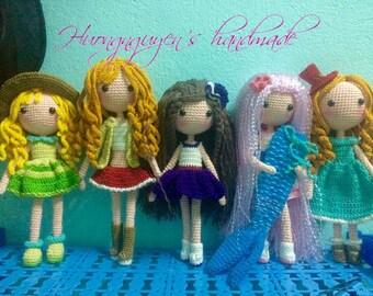 muñeca de ganchillo-amigurumi muñeca - muñeca hecha a mano