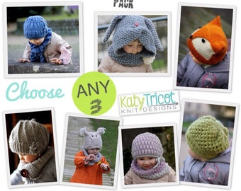 YOU choose ANY 3 PATTERNS KatyTricot