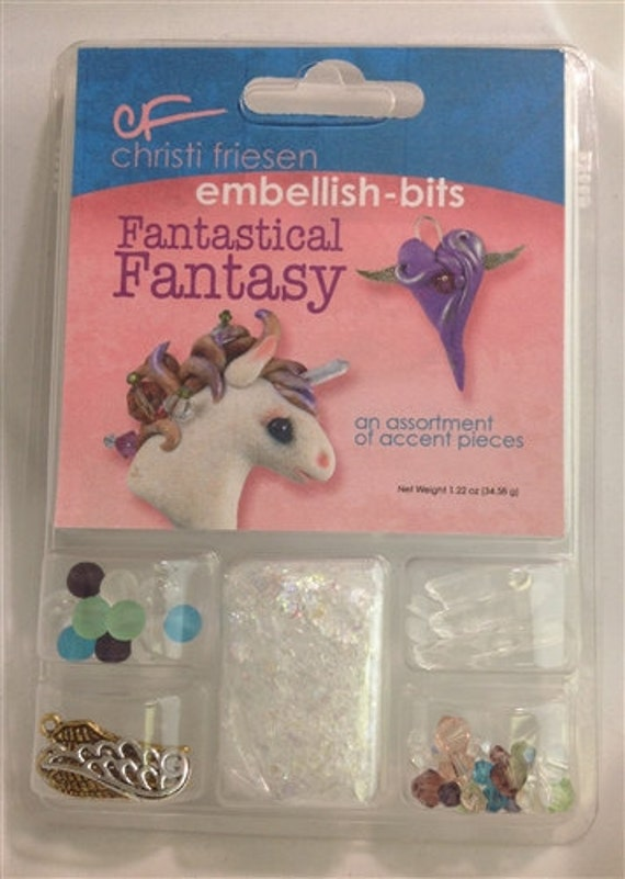 Fantastical fantasy embellishments, from wing charms, quartz points, shimmer flakes,  crystals more a collection by Christi Friesen