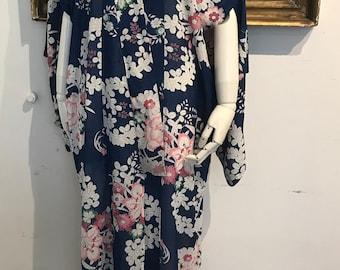 Floral Printed Summer Kimono,1930's