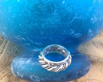 Ladies Unique Artisan Sterling Silver Ring