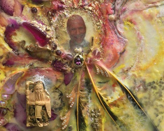 Encaustic Art Commissions:Power Objects-Archangelic Art-Painting-Meditation-Empowerment-Prayer-Healing-Inspirational-Sacred Art-Shari Landau