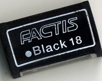 2 Soft Black 18 Factis Erasers (DR-018)
