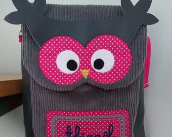 """OWL"" customizable preschool backpack"