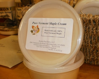 100 percent Pure Vermont Maple Cream/ Made with Vermont Maple Syrup