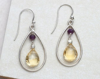 Amethyst & Citrine Earrings