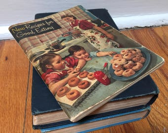 Cookbook 1948 New Recipes for Good Eating Vintage Book Distressed Crisco Kitchen Procter and Gamble