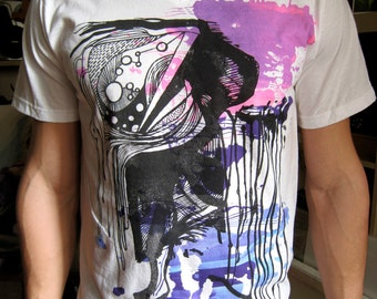 Abstract Composition Cool Combo Mens T-shirt