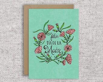Feliz Día de la Madre | Happy Mother's Day, Spanish Mother's Day Card, Mothering Sunday, Dia de la Madre, Mexican card, Spanish card