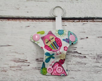 owls keychain - keychains for women - baby shower favor - present topper -baby announcement -baby shower diaper cake - cloth diaper keychain