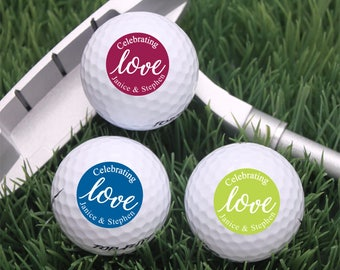 18 pcs Celebrating Love Personalized Golf Balls - Wedding Golf Balls - Birthday Gift (JM47424)