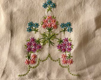 Hand Embroidered Doily