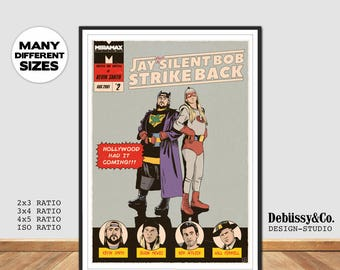 Jay and Silent Bob Movie poster print, Jay & Silent Bob print, Clerks poster print, Kevin Smith movie poster