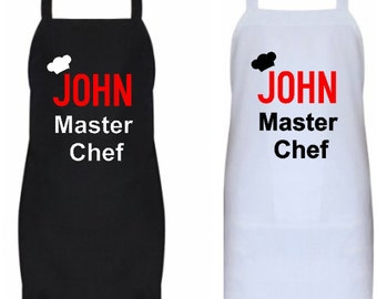 Personalized/Customized/Novelty Master Chef Apron-Great Gift for Him