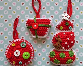 Crochet pattern - Christmas tree decoration by VendulkaM / DIY, pdf / Ornament / Hanger