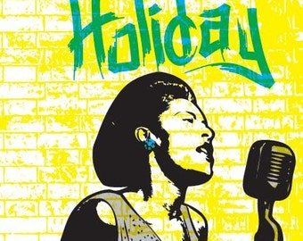 Billie Holiday Print 11x17 - Famous Seniors