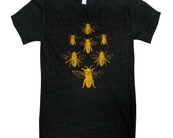 BEE Mens T-Shirt - Honey Bee Shirt - Available in sizes S, M, L, XL