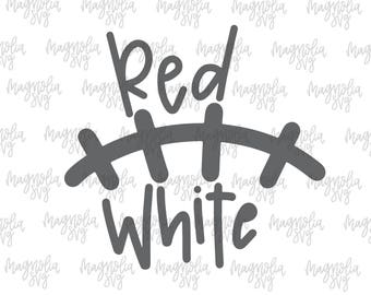 Red and White Laces svg, Red and White Football Laces svg, Football Laces svg, Football svg, Team Colors svg, School Colors svg, Team svg
