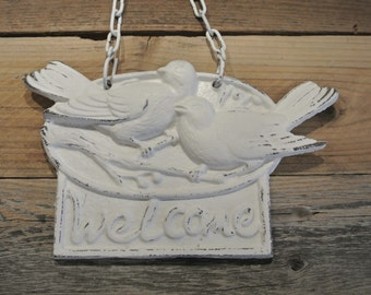 Welcome Sign, Cast Iron Welcome Sign, You Pick Color