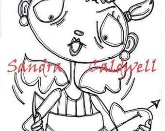 143 She Cupid Digi Stamp